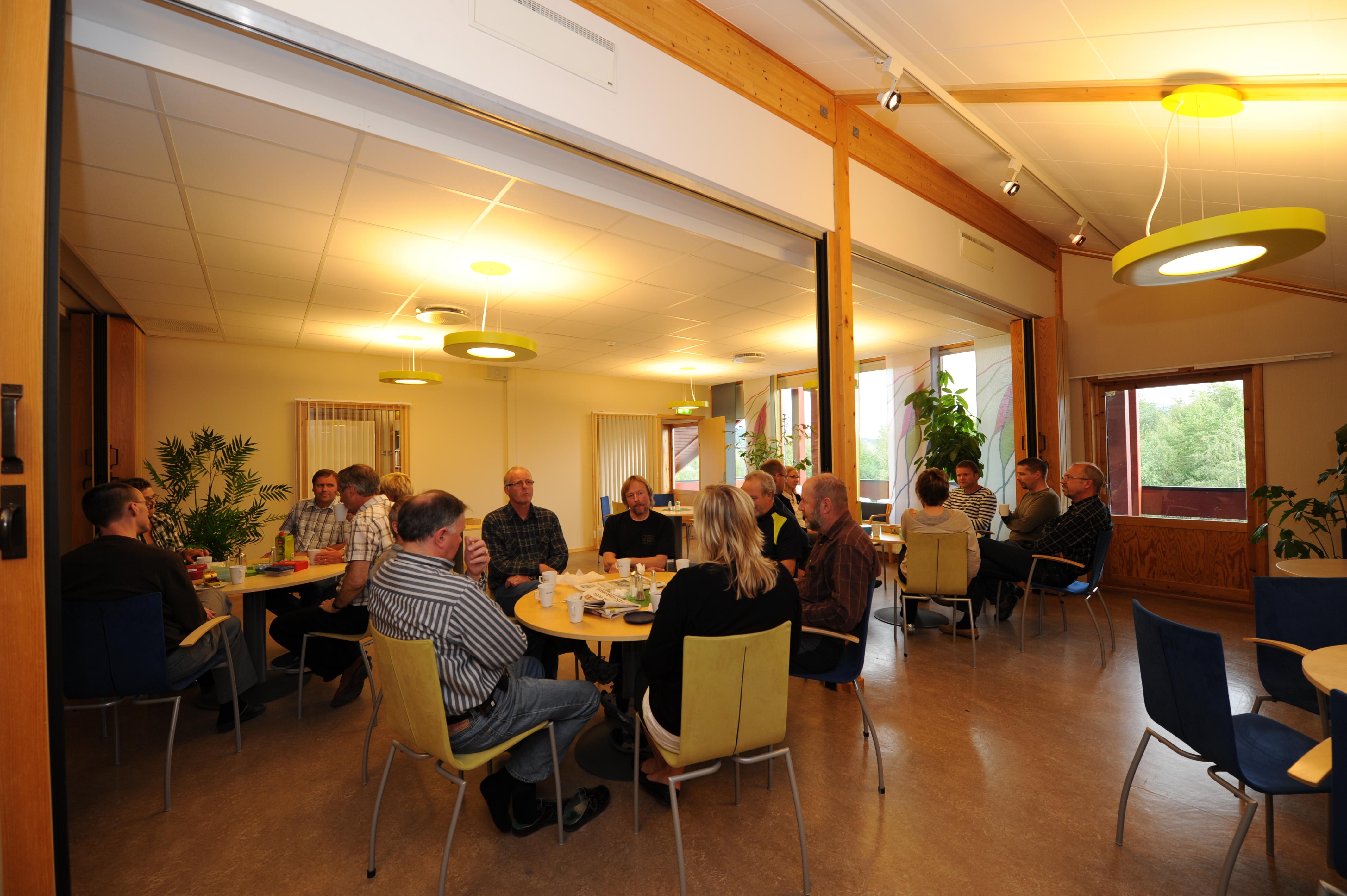 Bilde fra lunsjen i kantina i Tomtegata 8